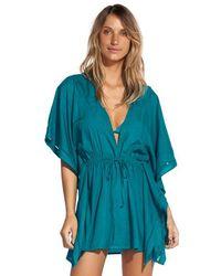 ViX Turquoise Embroidery Kimono - Green