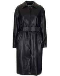 MSGM Women's 2941mdc0820765299 Black Coat
