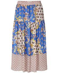 Lolly's Laundry Lollys Laundry Cokko Scarf Print Skirt - Blue