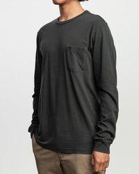 RVCA T-shirt Ptc Pigment Ls - Pirate Black