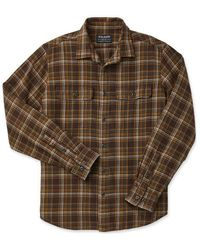 Filson Scout Shirt Brown / Tan / Otter Green Plaid