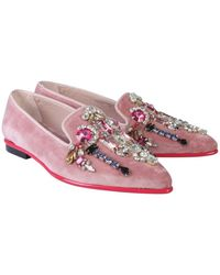 McQ Crystals Set Moccasin - Pink
