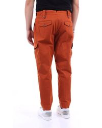 PT Torino Solid Color Cotton Pants - Orange