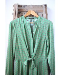 Scotch & Soda - Patterned Green Jumpsuit - Lyst