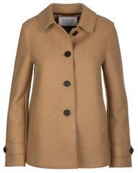 Harris Wharf London Coat Tan - Brown