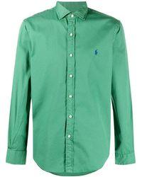 Ralph Lauren Men's 710829422001 Green Cotton Shirt