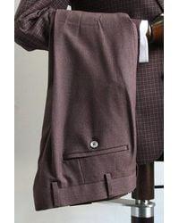 Remus Uomo Lazio Burgundy & Gray Pants