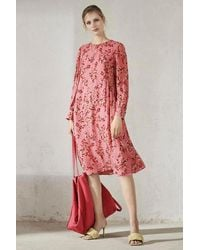 Luisa Cerano Blossom Print Dress - Pink
