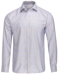 Eton of Sweden - Slim Check Shirt (sky Blue) - Lyst
