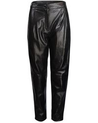 Moschino Boutique Leather Carrot Leg Trouser - Black