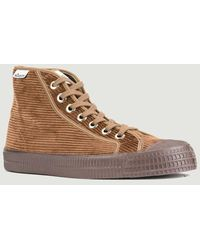 Novesta Star Dribble Corduroy High-top Trainers Mono Brown