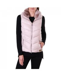 Barbour Nurberg Gilet With Faux Fur - Pink