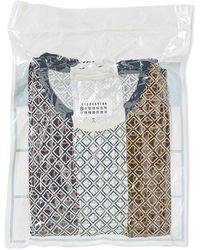 Maison Margiela 10 Basic T-shirt 3 Pack Chequered Size: Medium, Colour: Multi Coloured - Multicolour