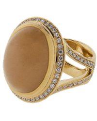 Tamara Comolli Small Brown Moonstone Cushion Ring - Pink