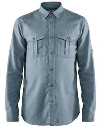 Fjallraven Fjallraven Ovik Travel Long Sleeve Shirt Clay Blue