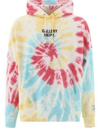 GALLERY DEPT. Marinatiedyehoodie Light Other Materials Sweatshirt - Blue