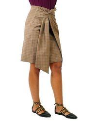 Dondup Straight Skirt Check Hazel - Multicolour