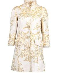 Andrew Gn Brocade Coral Evening Jacket - Metallic