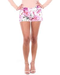 Laneus Cotton Shorts - White