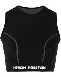 Heron Preston Periodic Crop Top - Black