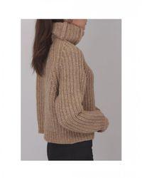BOSS High Collar Chunky Knit - Brown