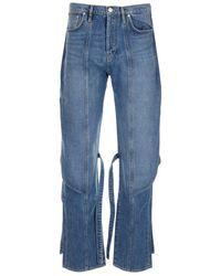 KENZO Men's Fb55dp3309ea62 Blue Other Materials Jeans