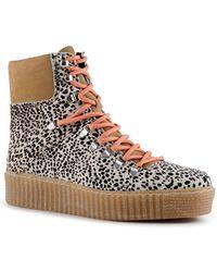 Shoe The Bear Adga Off White Suede Leopard Boots - Multicolour
