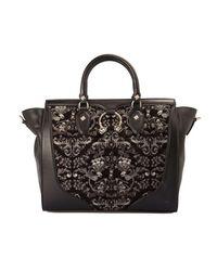 Just Cavalli Velvet Bag - Black