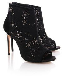 Ted Baker Womens Rowene Floral Detail Shoe Boot - Black
