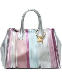 Gum Colour Polyester Handbag - Purple