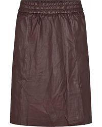 Second Female Melvin Leather Skirt - Purple