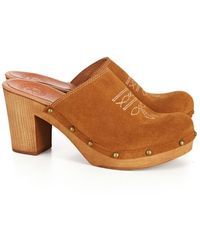 Penelope Chilvers Save Suede Clog - Brown