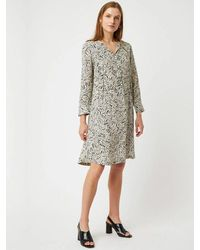 Great Plains - Javan Print Dress In Black & White - Lyst