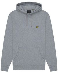 Lyle & Scott Pullover Hoodie , Colour:mid Gray