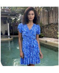 Feather & Find Vintage Ballerina Dress - Blue