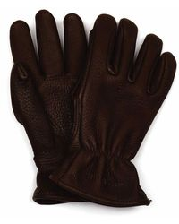 Red Wing 95231 Lined Buckskin Leather Gloves - Brown