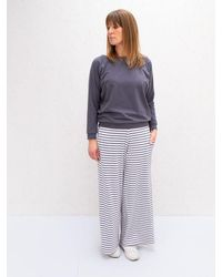 Chalk Striped Luna Trousers - Grey