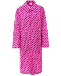 Vetements Nylon Raincoat - Pink