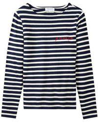Maison Labiche Je Ne Sais Quoi Sailor Long Sleeve Sailor Top - Navy & Ivory - Blue