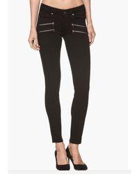 PAIGE Edgemont Mid Rise Skinny Jeans - Black