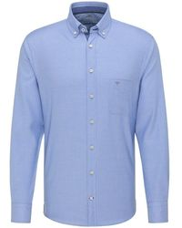 Fynch-Hatton Fynch-hatton Shirts Fyn .11216110 Blu.11216110 - Blue