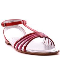 Hogan - Women's Mcbi148201o Red Leather Sandals - Lyst