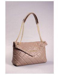 Valentino By Mario Valentino Ocarina Slouch Bag Colour: Taupe - Gray