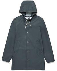 Stutterheim Stockholm Charcoal Raincoat By - Gray