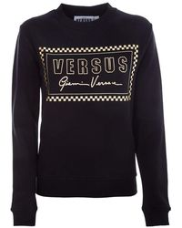 Versus Women's Bd90715bj10390b1008 Black Cotton Sweatshirt
