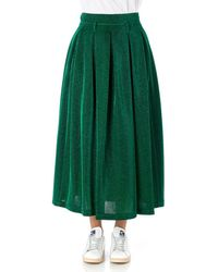Department 5 Pleated Skirt Lurex - Green