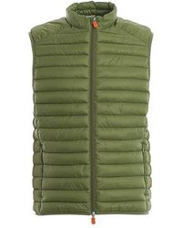 Save The Duck Men's D8241mgigax01732 Green Polyamide Vest