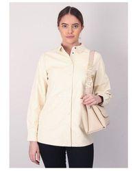 NÜ Faux Leather Shirt - Natural