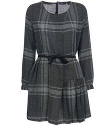 Woolrich W's Wool Gauze Dress Pennsylvania Check - Gray