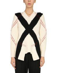 McQ V-neck Sweater - White